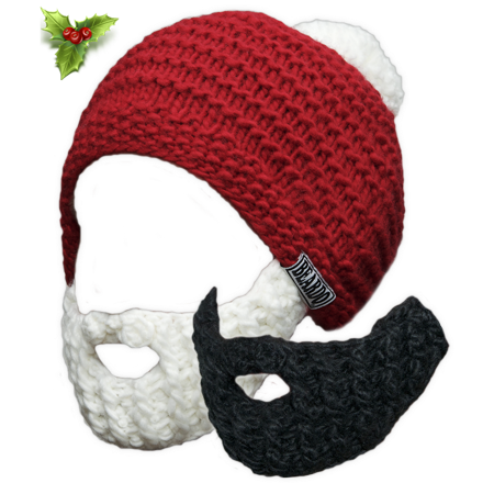 Beardo Original - Santa Combo Pack 2 Beards White & Black