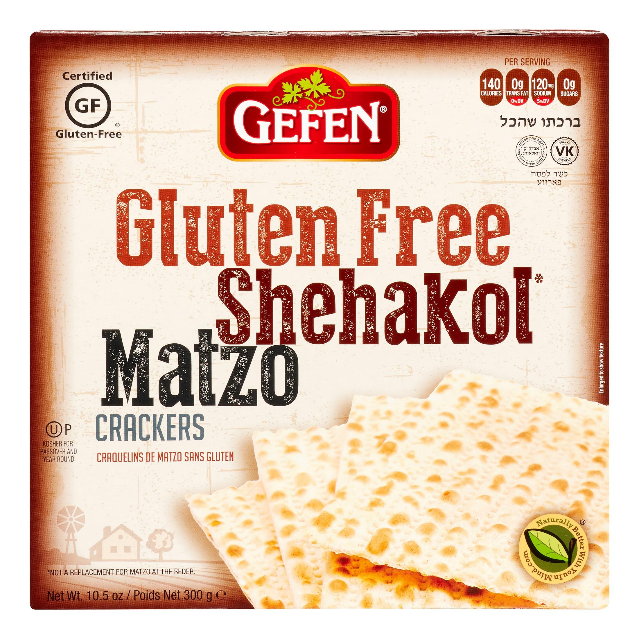 Gefen Gluten Free Matzo Cracker, 10.5 Oz