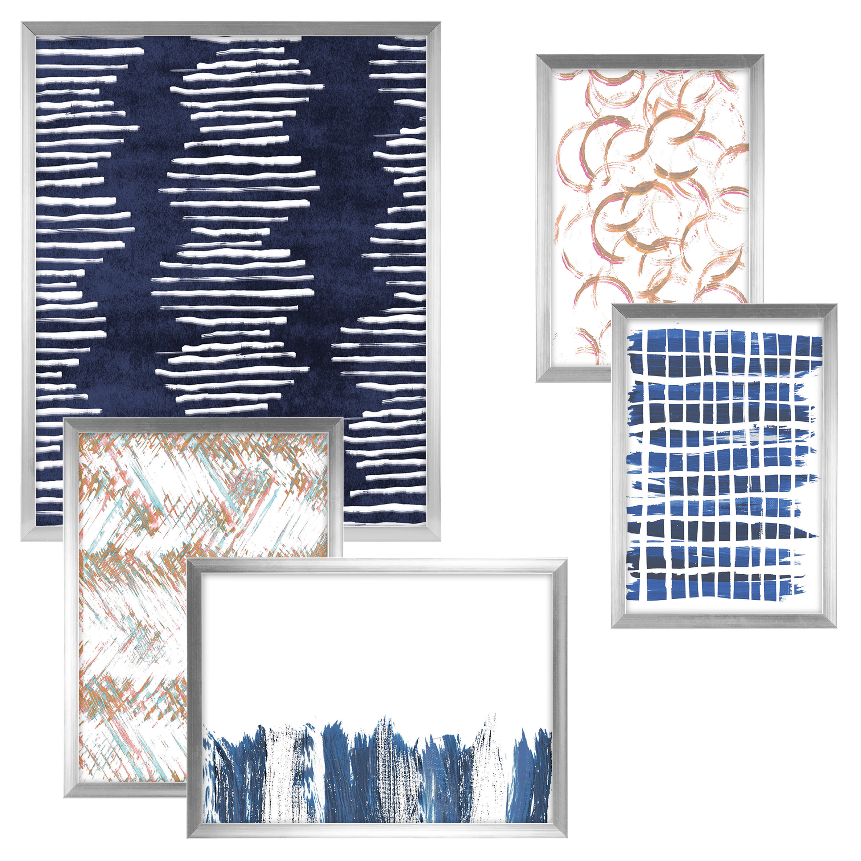 Mainstays Silver Assorted 5 Pc Frame Set