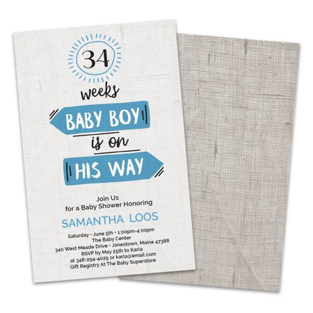Personalized Baby Is On The Way Shower Invitations