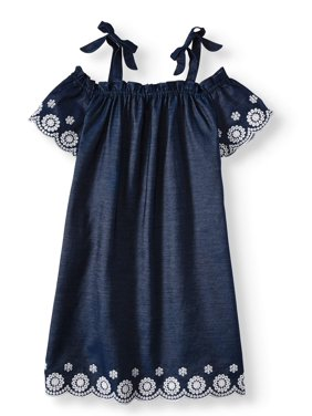 Cherokee Girls Cold Shoulder Embroidered Dress, Sizes 4-16