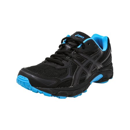 Asics Women's Gel-Vanisher Black / Phantom Island Blue Ankle-High Running Shoe - (Best Asics Cushioned Running Shoes)