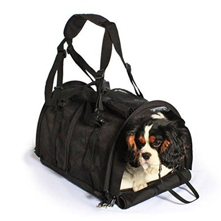 SturdiBag Extra Large Flexible Height Pet Carrier Divided for 2 Pets Navy