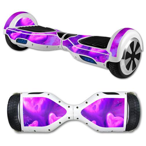 MightySkins Protective Vinyl Skin Decal for Hover Board Self Balancing Scooter mini 2 wheel x1 razor wrap cover sticker Purple Heart