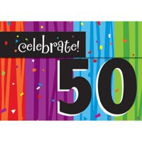 50th Milestone Birthday Party Invitations 8 Ct 50 Milestones