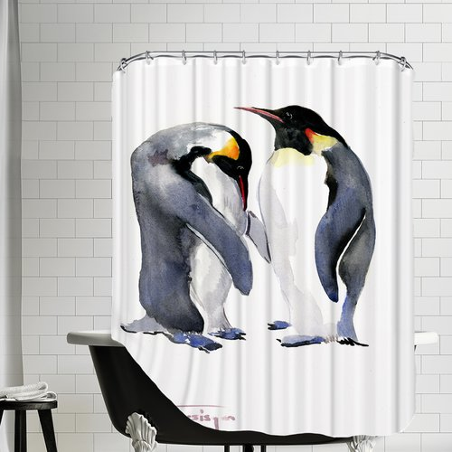 East Urban Home Emperor Penguins Shower Curtain