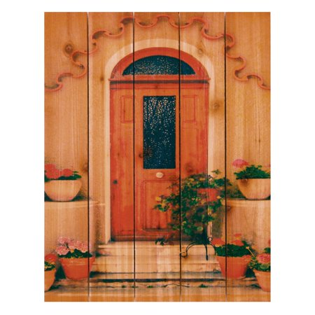 Gizaun Art Tile Door Indoor/Outdoor Full Color Cedar Wall Art