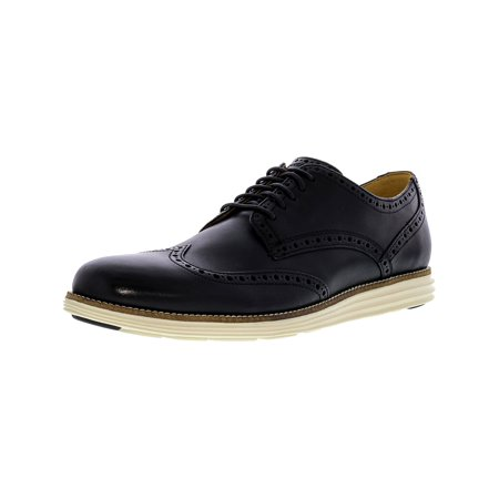 Cole Haan Men's Original Grand Black / White Ankle-High Leather Oxford Shoe -