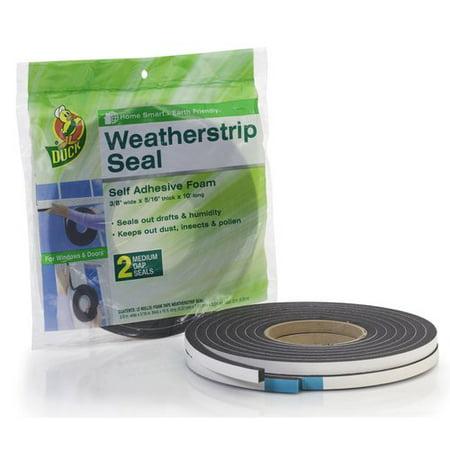 (Duck Brand PVC Foam Weatherstrip Seal, Medium, 2pk, 3/8