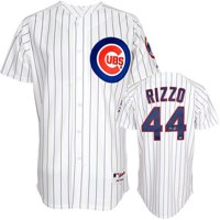 Anthony Rizzo Chicago Cubs Autographed Majestic White Replica Pinstripe Jersey - Fanatics Authentic Certified