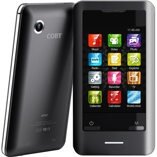 Coby 8 GB 2.8-Inch Video MP3 Player (Black) (MP8288GBK)