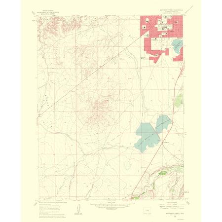 Topographical Map - Southwest Pueblo Colorado Quad - USGS 1963 - 23 x 28.26