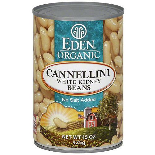 Eden No Salt Added White Kidney Beans, 15 oz (Pack of 12)