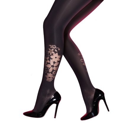 Pretty Polly Curves Floral Burnout Tights PMARY7