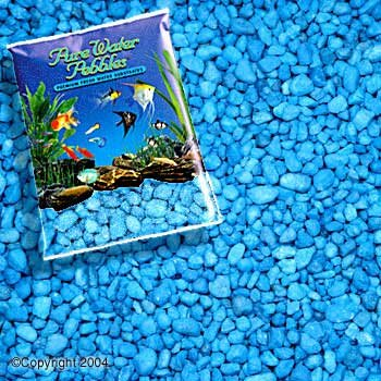 Pure Water Pebbles Aquarium Gravel 25-Pound Neon Blue (Pack of 1)