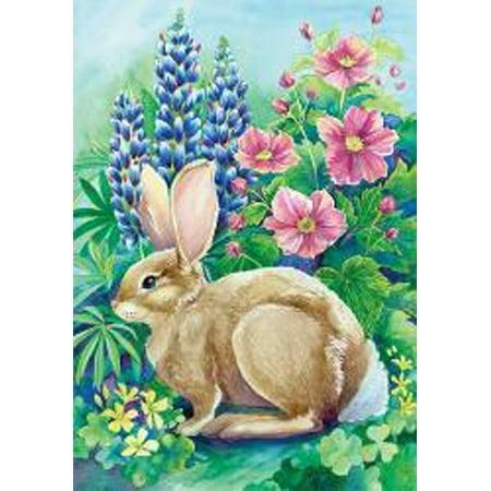 Garden Rabbit Spring Garden Flag Bunny Easter Floral Decorative 12