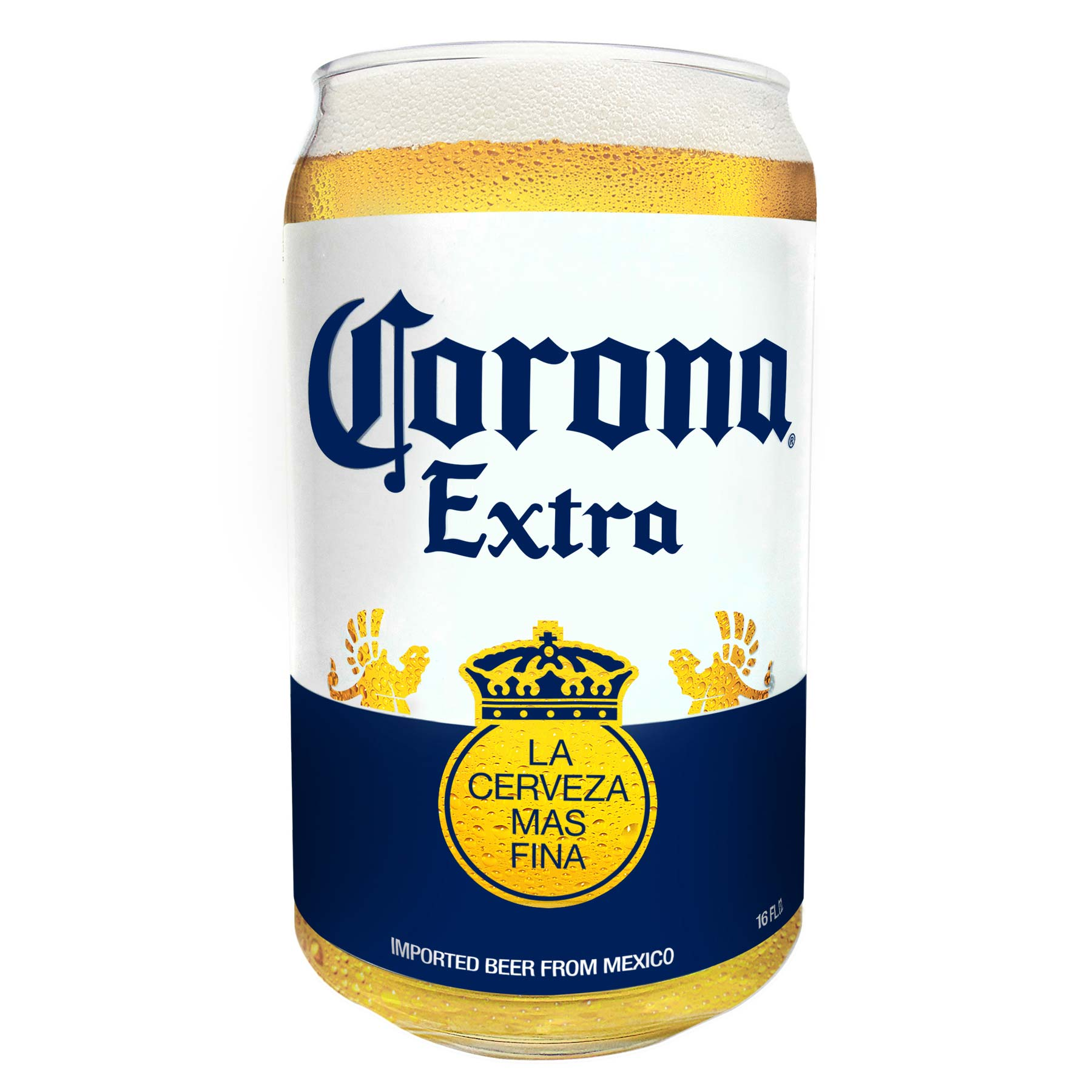 Corona Extra Beer Can Pint Glass by