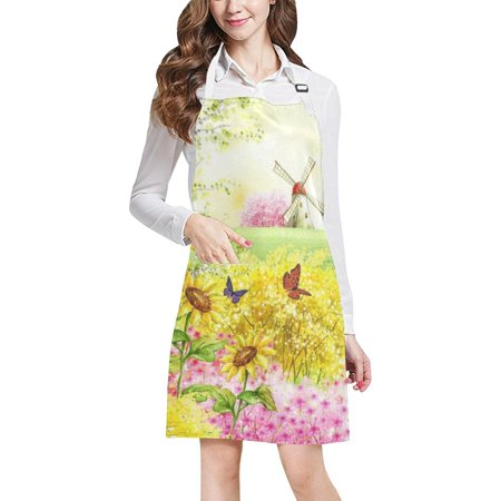ASHLEIGH Soccer Brazil 2018 Championship Kitchen Adjustable Bib Apron with Pockets Apron for Cooking Baking Gardening (Halloween Baking Championship)