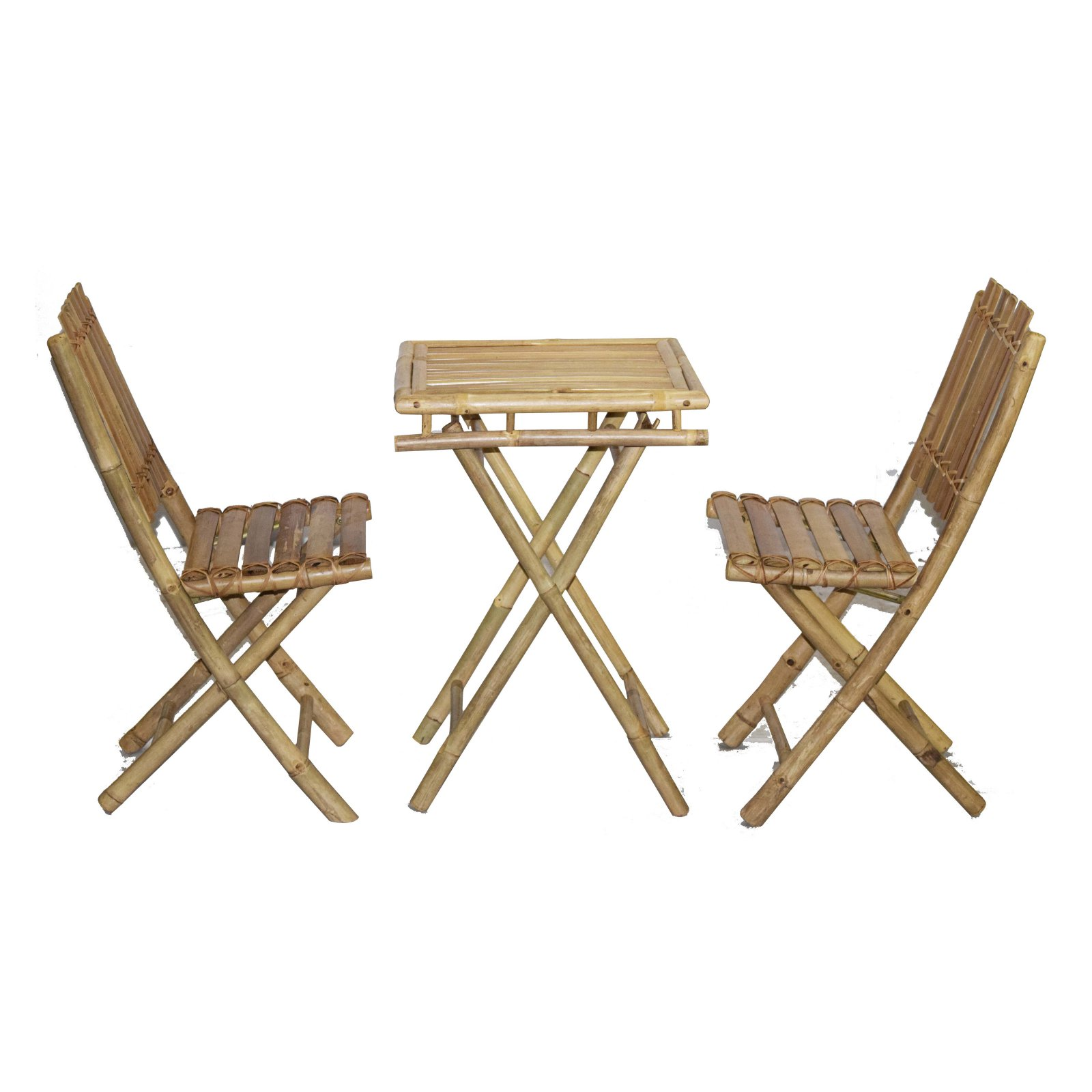 Bamboo54 Wood 3 Piece Outdoor Bistro Set