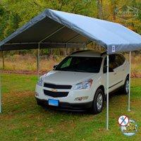 King Canopy Universal 8 Leg 10'x20' Carport Canopy, Silver