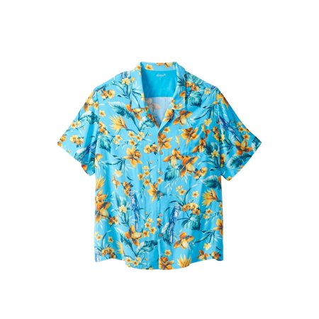 Tropical Print Skirt - Men's Big & Tall Tropical Caribbean Print Shirt By Ks Island