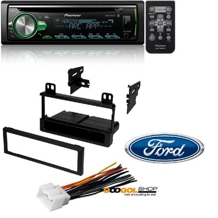 Pioneer CD Receiver with Improved Pioneer ARC App Compatibility, MIXTRAX, Built-in Bluetooth, and Color Customization W/ Mounting Kit-FMK550 for 1995-2011 Ford/Lincoln/Mazda/Mercury (Apps Translate)