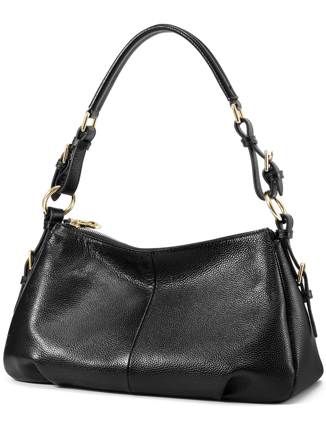 Kattee Ladies' Vintage Leather Hobo Shoulder Handbag (Brown)