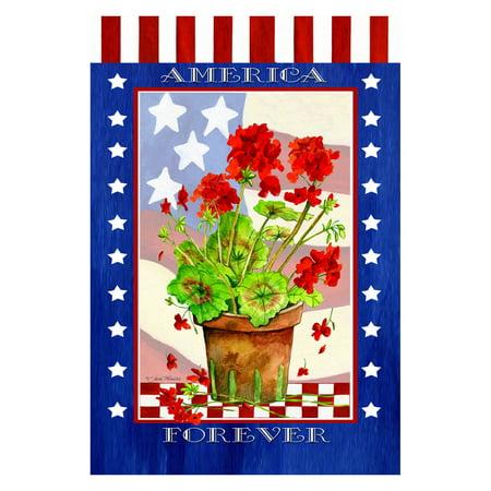 Toland Home Garden Patriotic Geranium Pot Flag](Patriotic Flag)