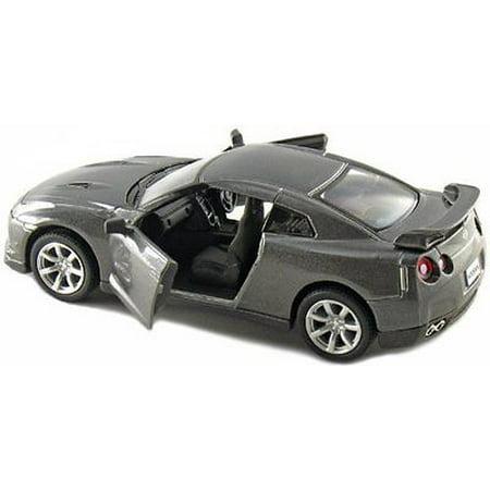 """5"""" Kinsmart 2009 Nissan GT-R R35 Diecast Model Toy Car 1:36 Grey"""