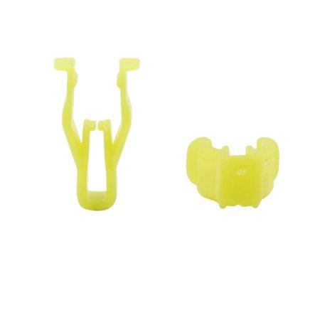 100Pcs Yellow Plastic Rivets Car Panel Rear Trunk Clips Bumper Fender Fastener