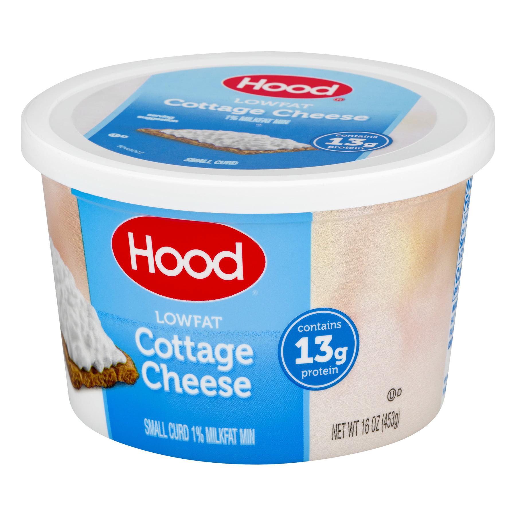 hood small curd 1 milkfat cottage cheese 16 oz walmart com