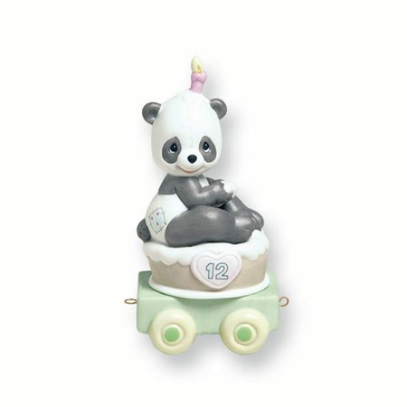 Precious Moments Porcelain Figurine (Precious Moments Age Twelve Panda Porcelain Figurine (5.9x2.9inch) )