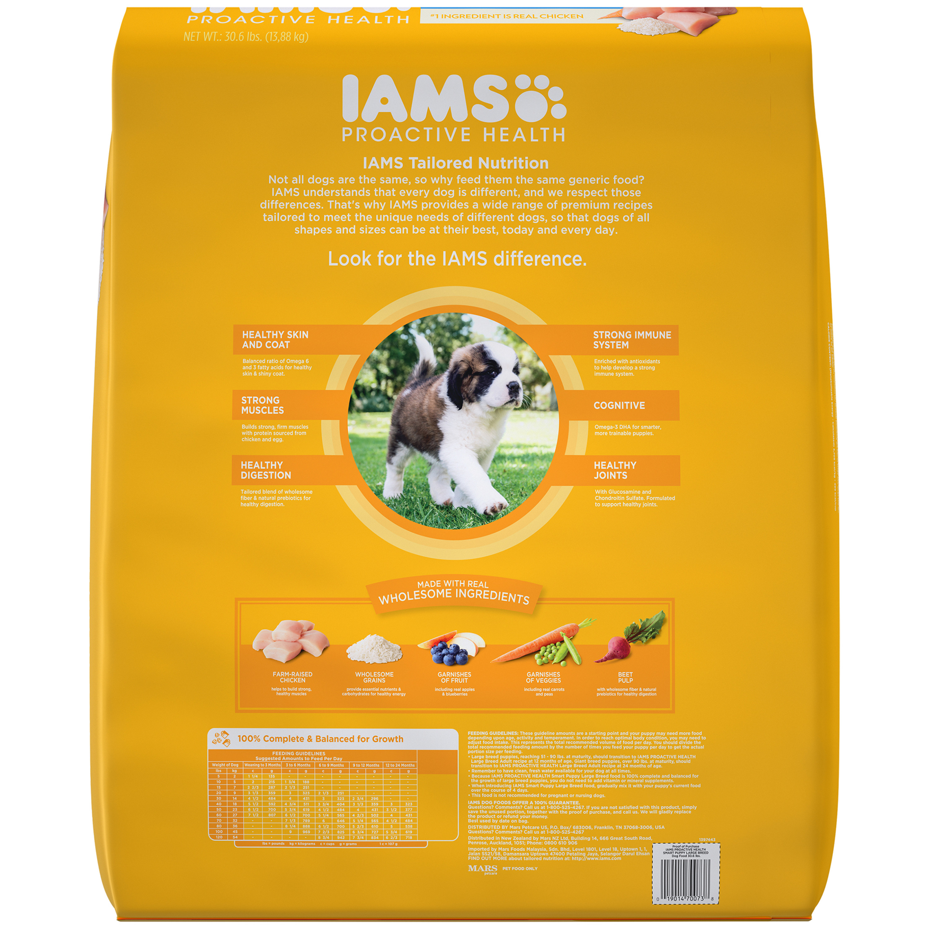 IAMS PROACTIVE HEALTH Smart Puppy Large Breed Dry Dog Food Chicken ...