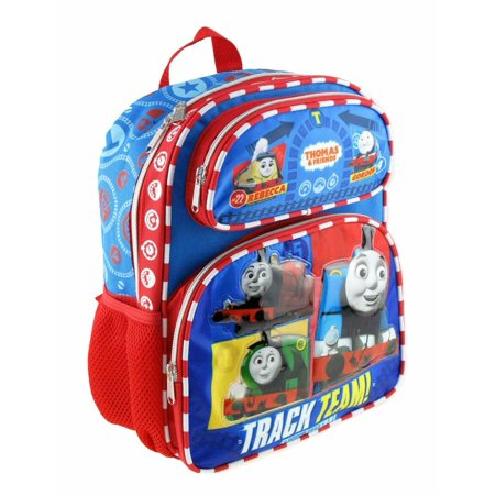 """ALL ABOARD"" Thomas the Train Engine 12"" Small Toddler School Backpack"