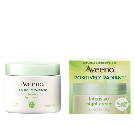 Aveeno Positively Radiant Intensive Night Cream with Vitamin B3 - 1.7oz
