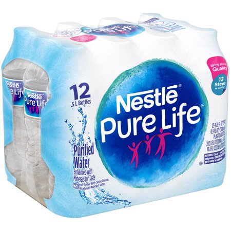 Nestle Pure Life Purified Water, 16.9 Fl. Oz., 12 Count ...  Nestle Pure Lif...