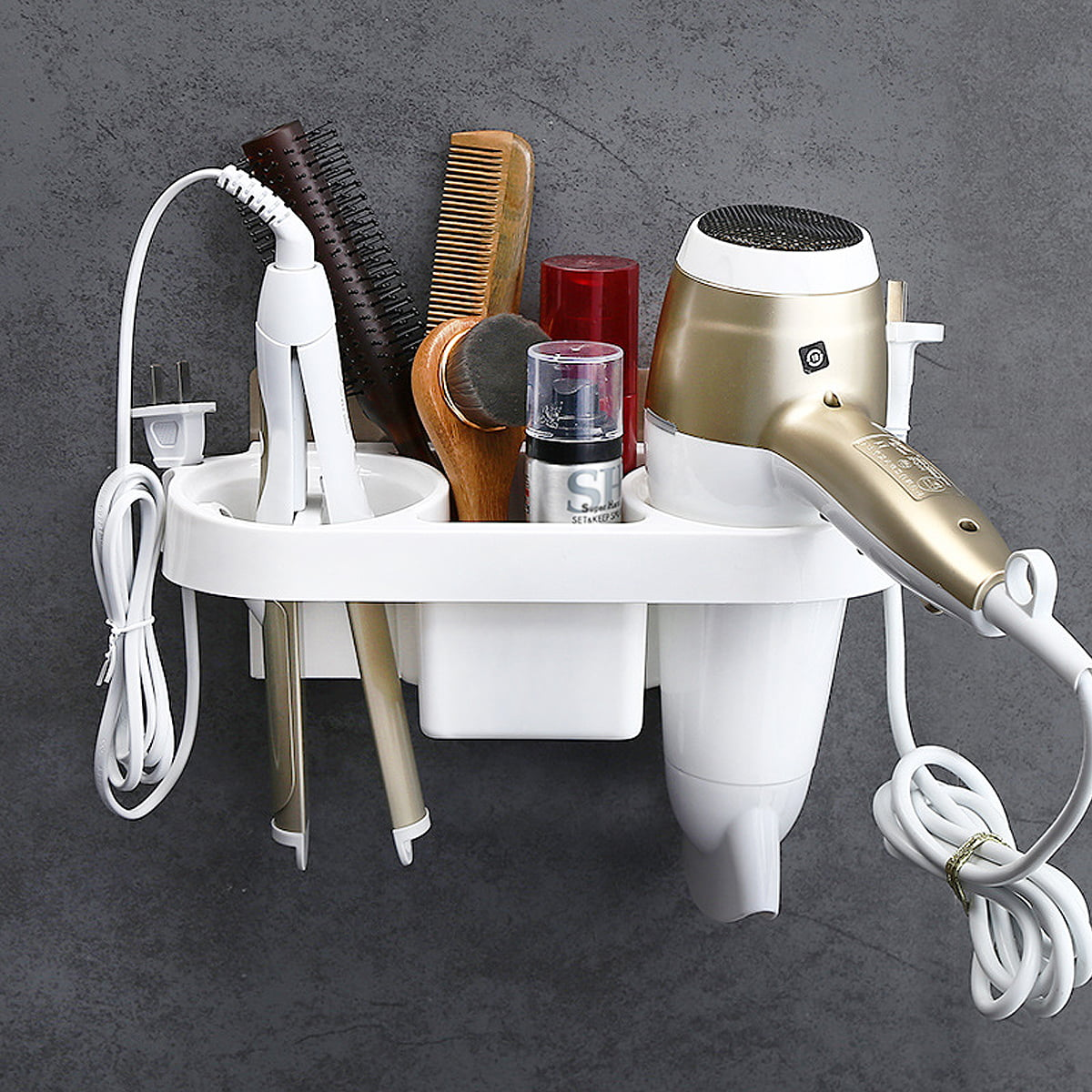 Bathroom Wall Mounted Holder Razor Shaver Rack Suction Cup Adhesive Storage Tool
