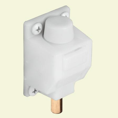 Prime-Line Products U 9869 5/16 in. Diameter, Foot Operated, White, Sliding Patio Door Lock ()