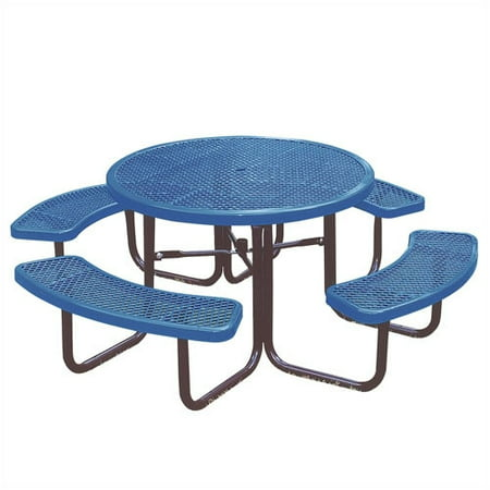 Ultra Play Round Picnic Table with Diamond Pattern