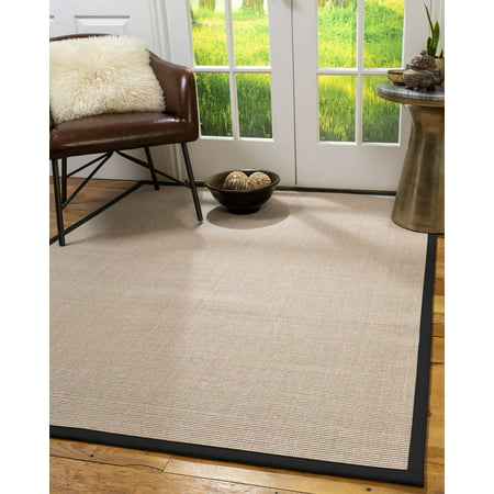 Natural Area Rugs Blair Custom Sisal Rug, 2' x 3', Black Border