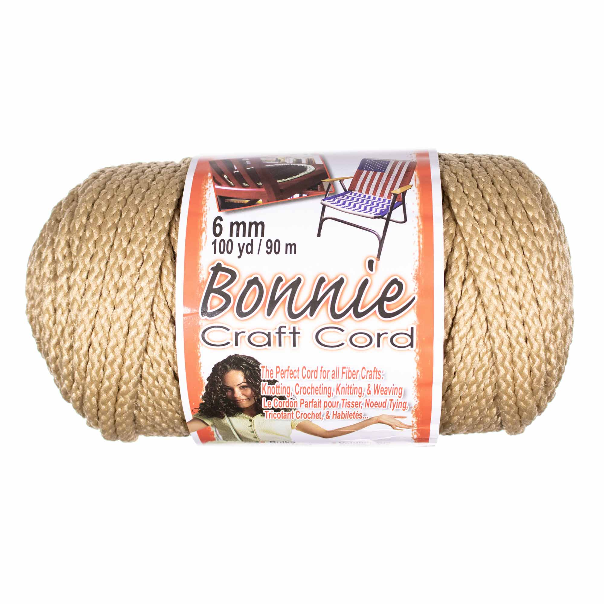 Craft County Bonnie Cord - 6mm Diameter - 100 Yards in Length - Available in an Assortment of Colors