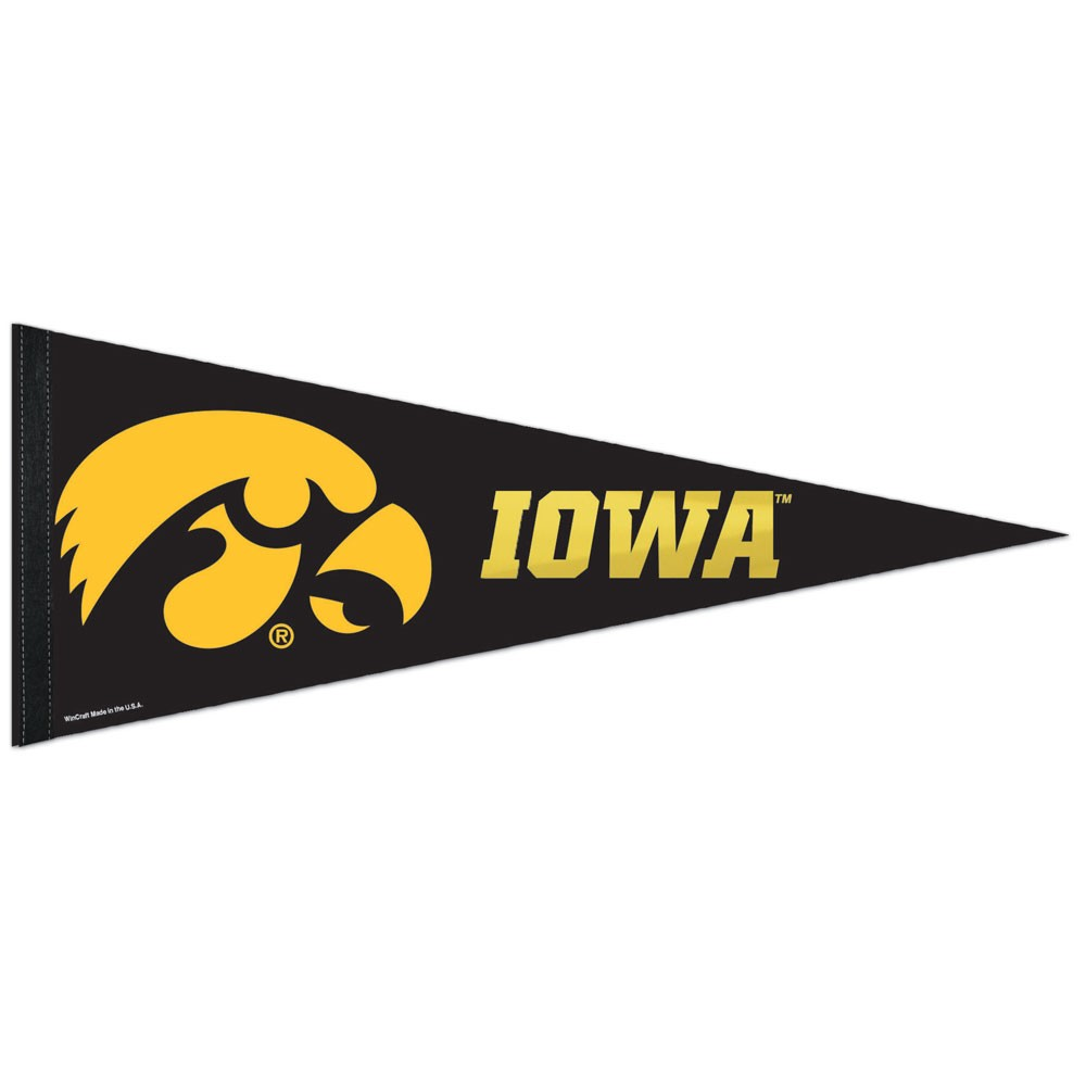 Iowa Hawkeyes Official NCAA 30 inch  Foil Premium Pennant by WinCraft