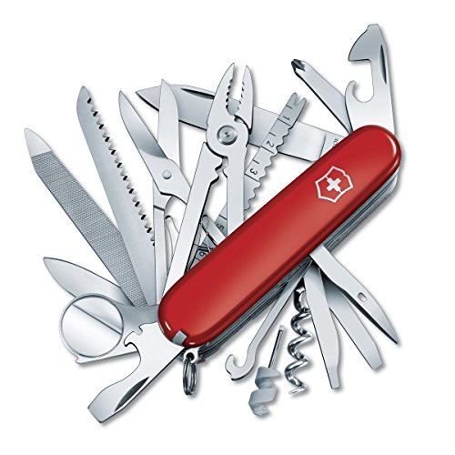 Victorinox Swiss Army SwissChamp Pocket Knife, Red