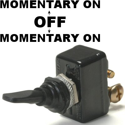 K-Four Sand Sealed Super Heavy Duty 50 Amp Momentary On / Off / Momentary On Toggle Switch (Sandy Off Of Grease)