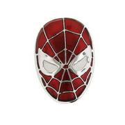 Licensed Marvel Comics Red & Silver Amazing Spiderman Head Metal Belt Buckle NWT