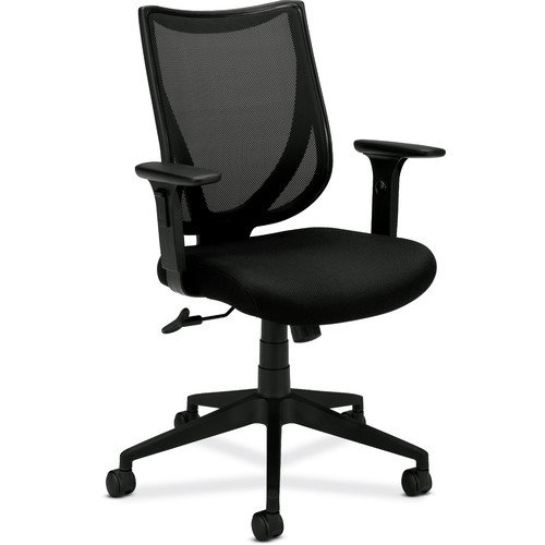 BASYX VL561MM10 Mid-Back Managerial Chair 27inx39-1/2inx41in Black