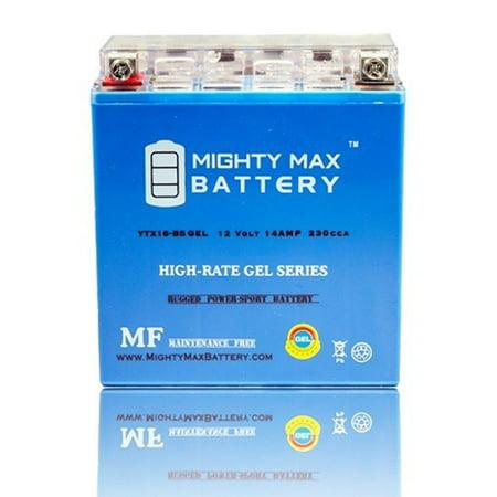 YTX16-BS 12V 14AH GEL Battery for Suzuki LTF500F Vinson Manual 4WD