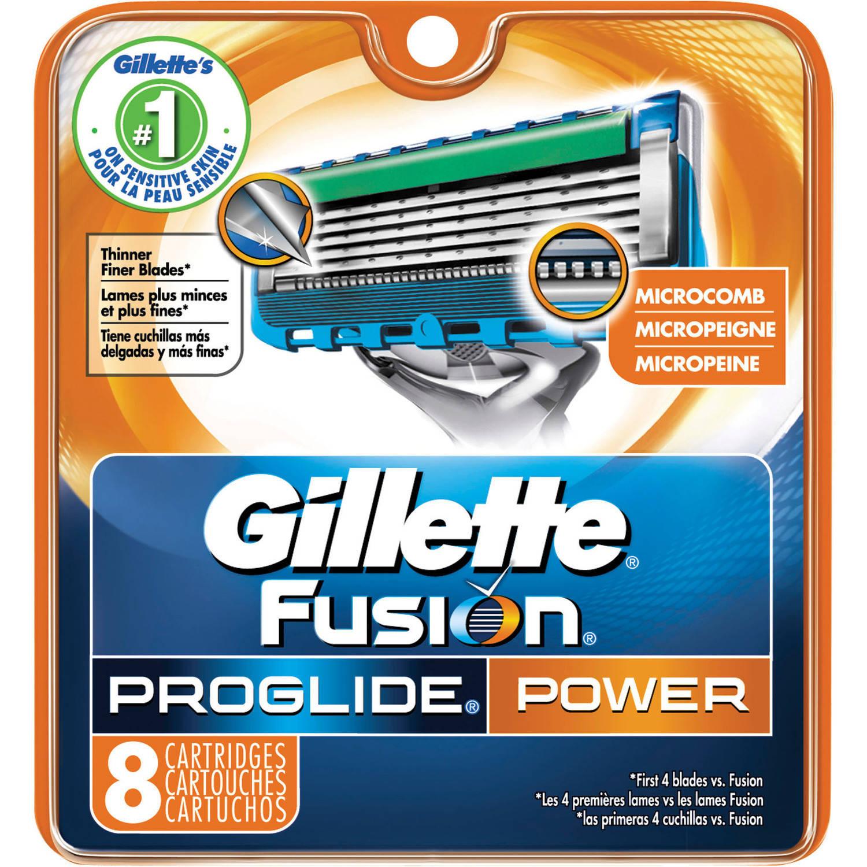 Gillette Fusion ProGlide Power Razor Cartridge Refills, 8 count
