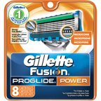 Gillette Fusion ProGlide Power Razor Cartridge Refills, 8 count