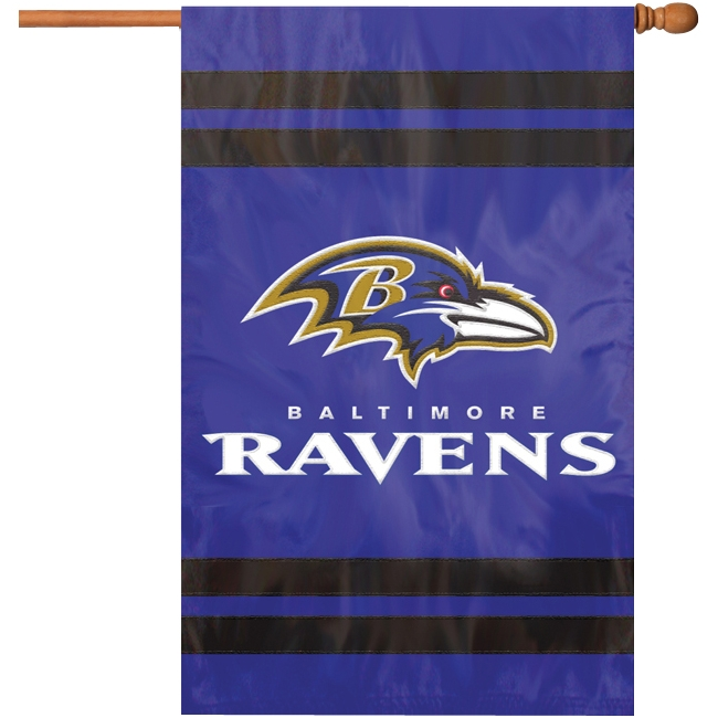 Ravens Applique Banner Flag